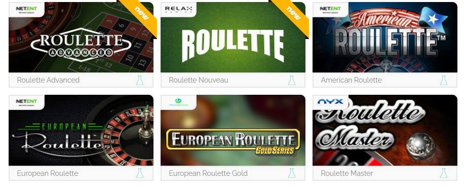 Elija un juego de ruleta en línea para jugar en un casino en línea