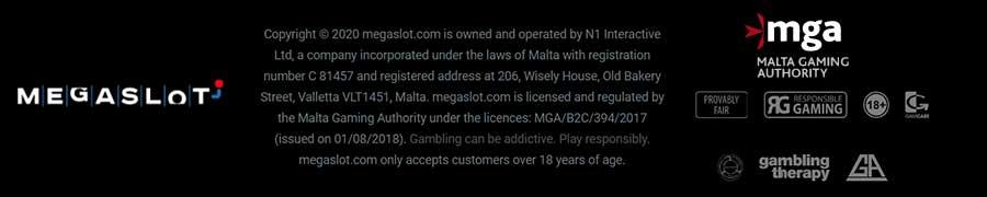 Licence of MGA for megaslot casino
