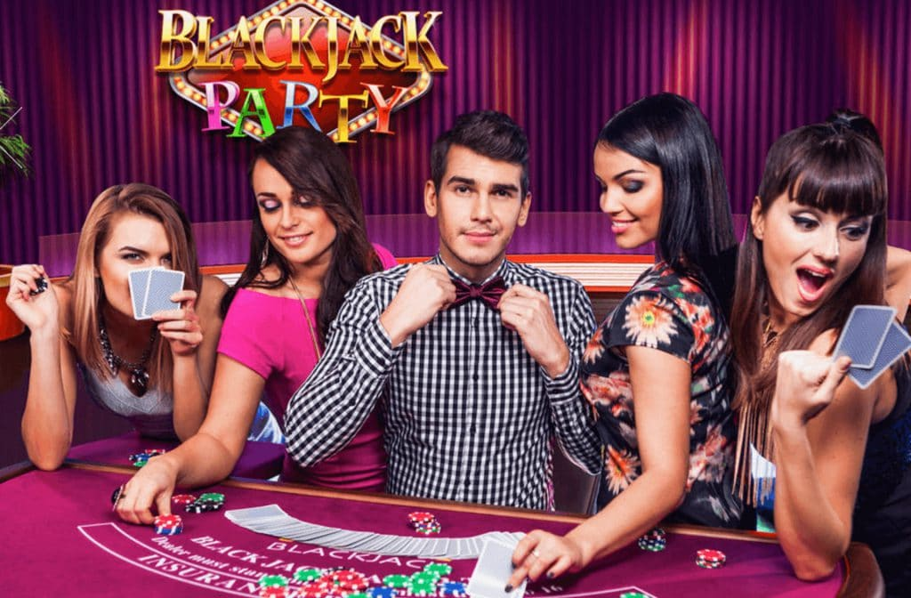 Evolution Gaming introduces BlackJack Party. A live dealer fun Blackjackl game that is available at all lice casinos with Evolution.