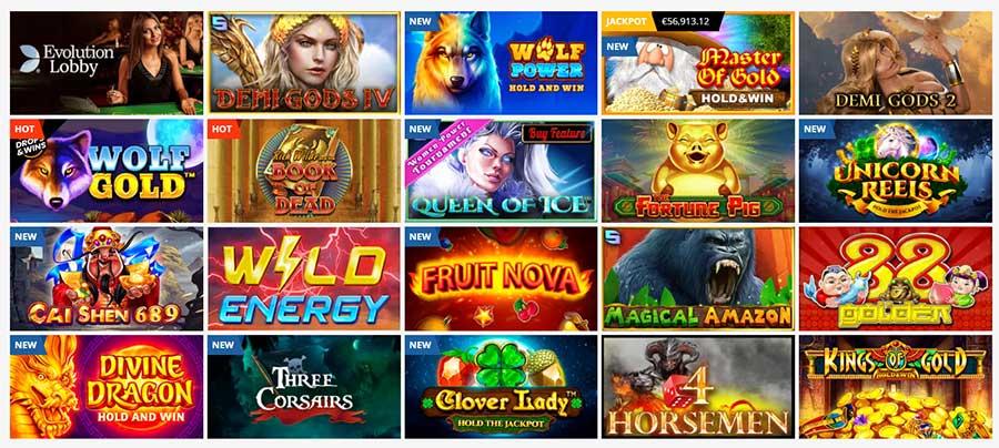 Popular games on Playamo