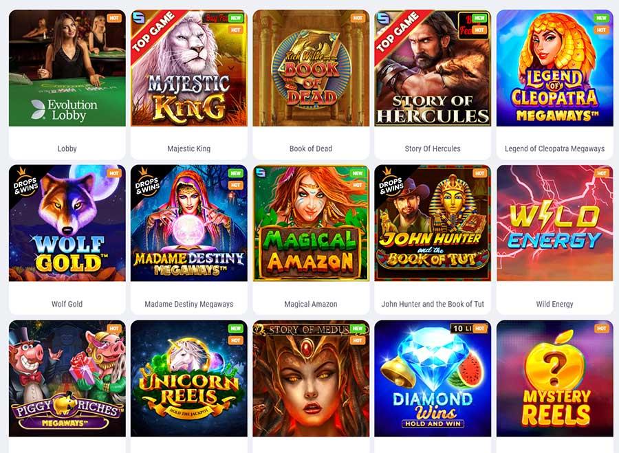 Popular games of the casino