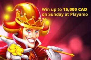 Ganhe até $ 15,000 com a roda da fortuna no casino Playamo