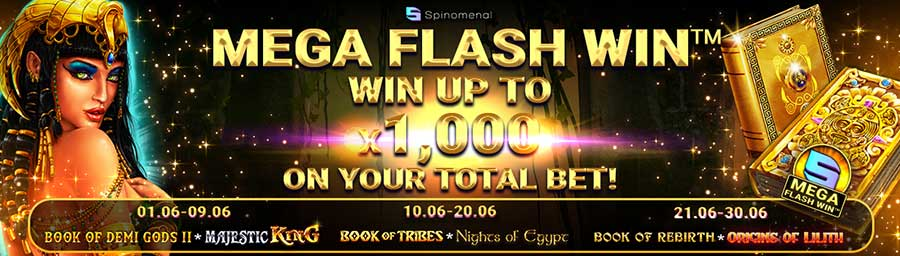 Torneio Spinomenal Mega Flash Win