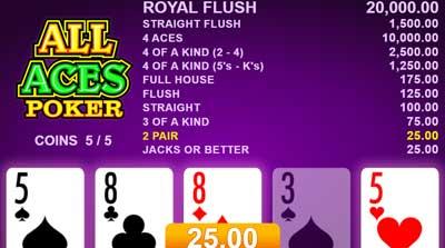 Jogos de azar online em vídeo pôquer