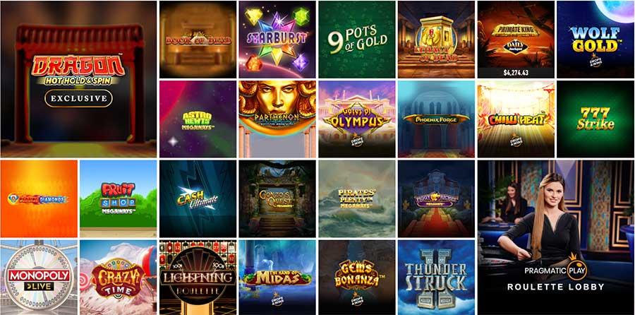 Saguão de jogos do casino Slotnite