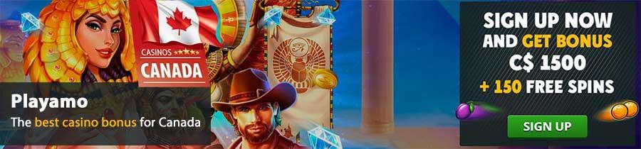 Bono exclusivo del casino en línea canadiense de Playamo: C $ 1500