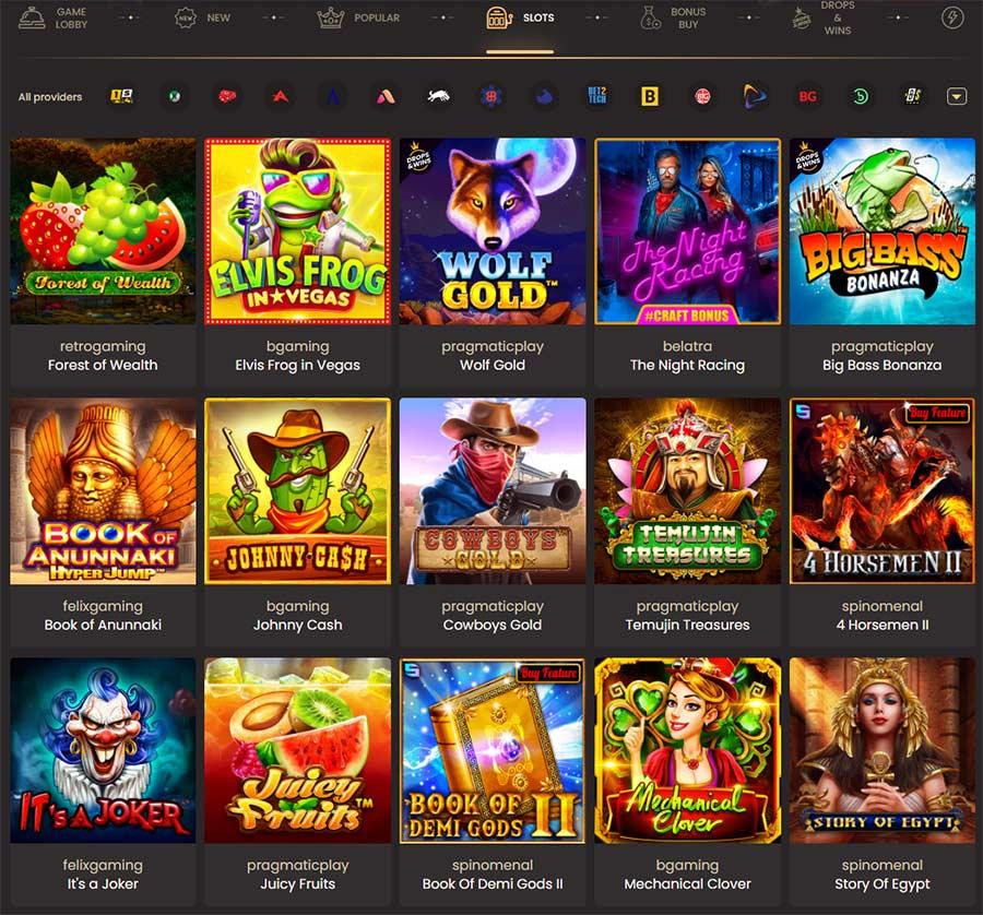 Todos os jogos de casino que podem ser jogados no Canadá neste casino online