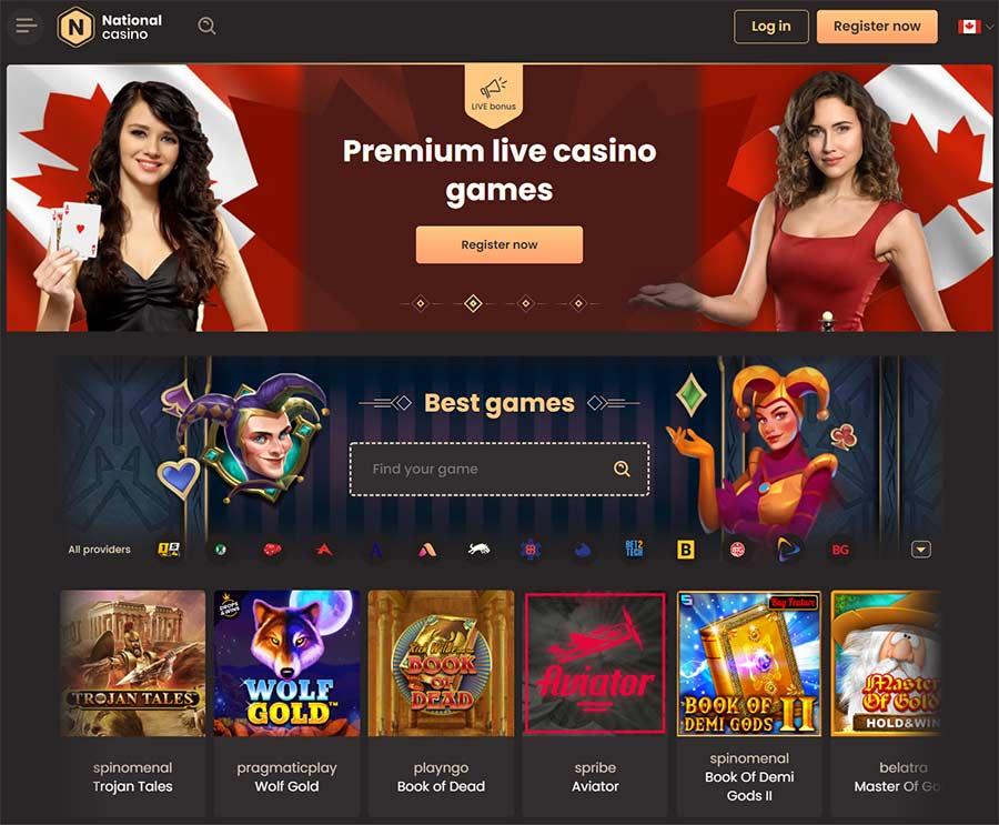 Introdução de análise do site do National Casino
