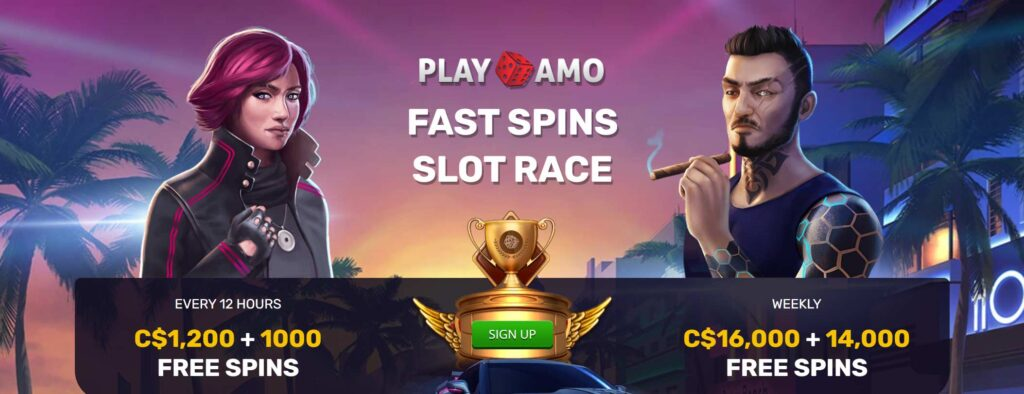 Join the Fast Spins Slot Race at Playamo Casino