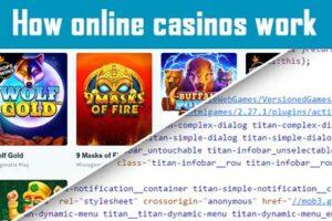 Como funcionam os casinos online