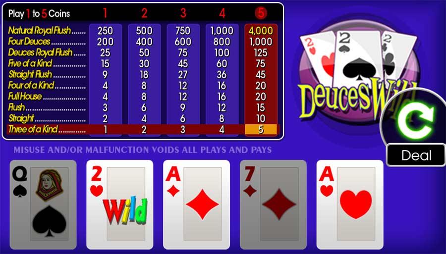 Ganhando mais com o Video Poker Online